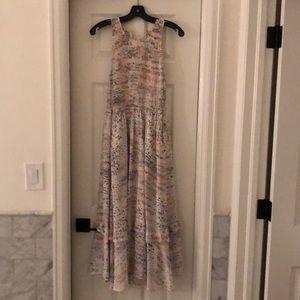 Rebecca Taylor Silk neutral leopard maxi dress